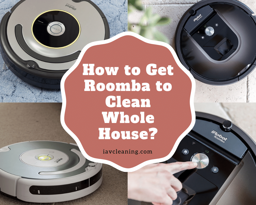 How to Get Roomba to Clean Whole House? | IAV Cleaning