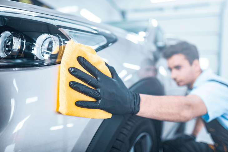 Don't forget to wipe your car with a microfiber cloth after washing it. This helps polish the car and get rid of the water droplets that might have cling to the surface